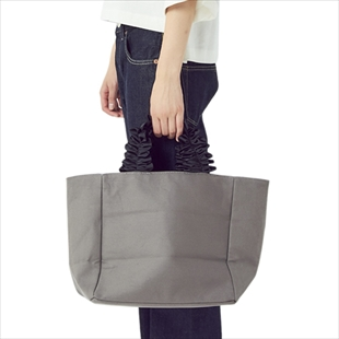 [カシェリエ]FRILL HANDLE CANVAS TOTE (M)