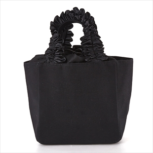 [カシェリエ]FRILL HANDLE CANVAS TOTE(S)