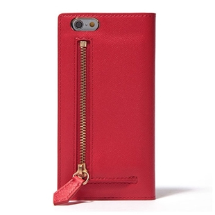 [エスエルジーデザイン]SLG Design Saffiano Zipper Case Red for iPhone 6/6s