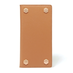 [エスエルジーデザイン]SLG Design D5 Saffiano Calf Skin Leather Diary tan brown for iPhone 6/6s