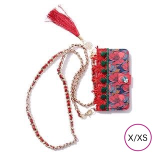 [アネラシエル]RedFlower×GreenPompom for iPhone X/XS