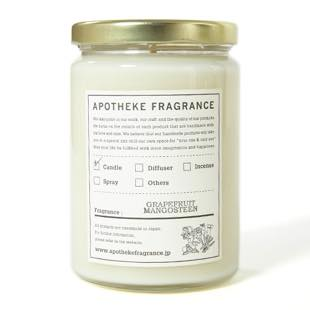 [アポテーケフレグランス]GLASS JAR CANDLE GRAPEFRUIT MANGOSTEEN