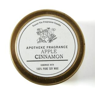 [アポテーケフレグランス]TRAVEL TIN CANDLE APPLE CINNAMON