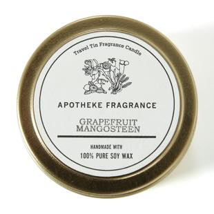 [アポテーケフレグランス]TRAVEL TIN CANDLE GRAPEFRUIT MANGOSTEEN