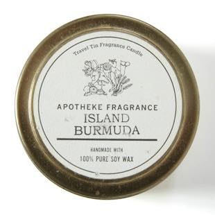 [アポテーケフレグランス]TRAVEL TIN CANDLE ISLAND BURMUDA