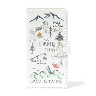 BLUEWHITE The CAMP 手帳型ケース グリーン for iPhone 6/6s