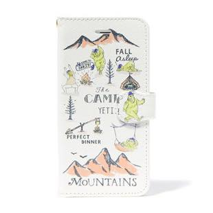BLUEWHITE The CAMP 手帳型ケース イエロー for iPhone 6/6s