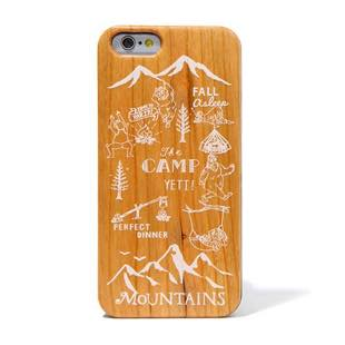 BLUEWHITE The CAMP 天然木 ケース WHITE for iPhone 6/6s