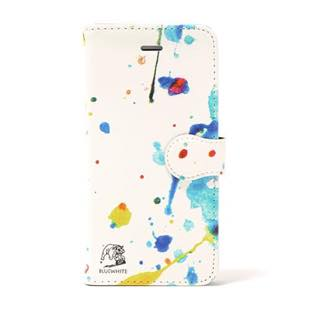 BLUEWHITE PAINT PARK DOG 手帳型 ケース for iPhone 8/7