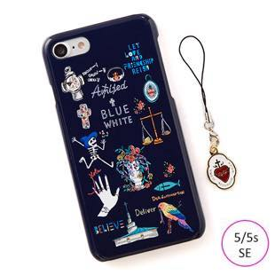 [ブルーホワイト]Amijed+BLUEWHITE Navy for iPhone 5/5s/SE