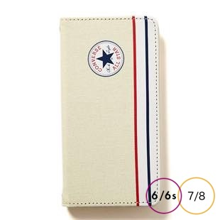 [コンバース]CANVAS IVORY 手帳型 for iPhone 8/7/6s/6