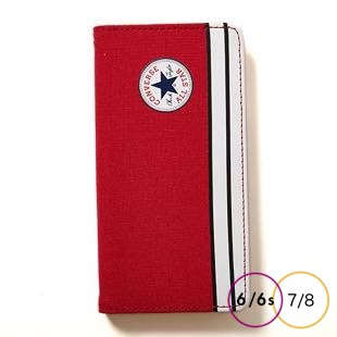 [コンバース]CANVAS RED 手帳型 for iPhone 8/7/6s/6