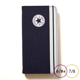 [コンバース]CANVAS NAV 手帳型 for iPhone 8/7/6s/6