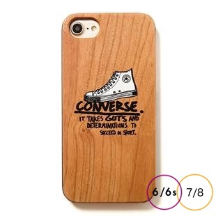 [コンバース]Handwriting Shoes WOOD for iPhone 8/7/6s/6
