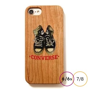 [コンバース]Old clothes shoes WOOD for iPhone 8/7/6s/6