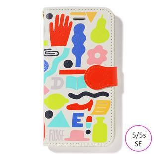 [ファッジホリデーサーカス]FUDGE Holiday Circus GEOMETORIC PATTERN diary for iPhone 5/5s/SE