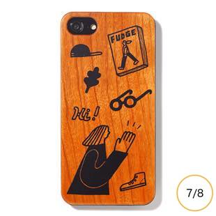 [ファッジホリデーサーカス]FUDGE Holiday Circus FUDGE girl wood for iPhone 8/7