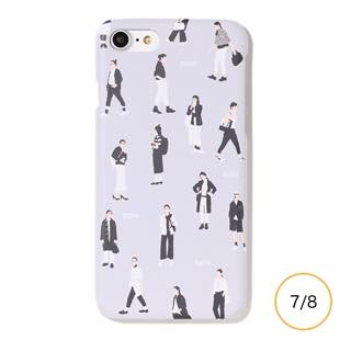 [ファッジホリデーサーカス]FUDGE Holiday Circus FUDGE GIRL monochrome for iPhone  8/7