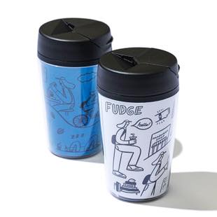 [ファッジホリデーサーカス]FUDGE original tumbler  white&blue