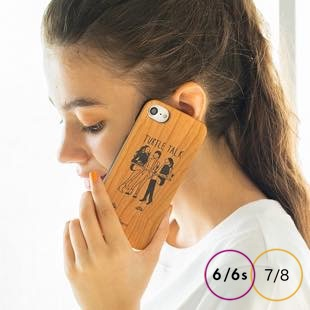 [ファッジ×フォクスコ]FUDGE×foxco TURTLE TALK wood for iPhone 8/7/6s/6