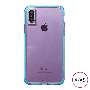 [ケースメイト]Case-Mate Tough Clear Neon- Turquoise Purple for iPhone X / XS