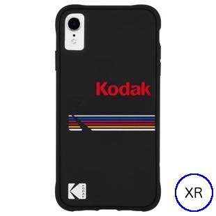 [ケースメイト]Case-Mate Kodak Matte Black+Shiny Black Logo for iPhone XR