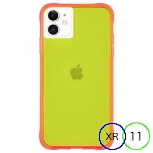 [ケースメイト]Case-Mate Tough NEON - Green/Pink for iPhone 11/XR