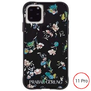 [ケースメイト]PRABAL GURUNG×Case-Mate - Brush Stroke Black Floral for iPhone 11 Pro