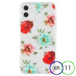[ケースメイト]PRABAL GURUNG×Case-Mate - Embroidered Clear Floral for iPhone 11/XR
