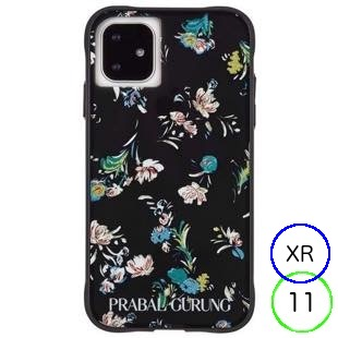 [ケースメイト]PRABAL GURUNG×Case-Mate - Brush Stroke Black Floral for iPhone 11/XR