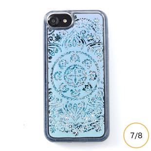 [アイカバー]icover Sparkle case White lace for iPhone 8/7