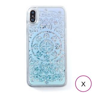 [アイカバー]icover Sparkle case White lace for iPhone X