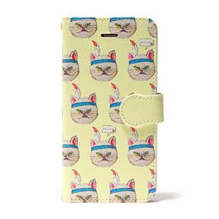 FUDGE presents ネイルBOOK Yummy Cat NoteBook Yellow for iPhone 5/5s/SE