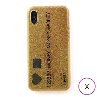 [アイフォリア]CREDIT CARD GLITTER for iPhone X / XS
