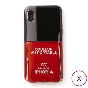 [アイフォリア]COULEUR ROUGE PUR for iPhone X