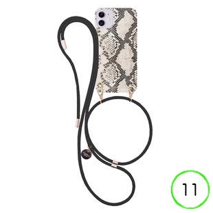 [アイフォリア]Natural Snake (nude) with Black Cord for iPhone 11