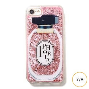 [アイフォリア]Perfume Round Rose for iPhone 8/7
