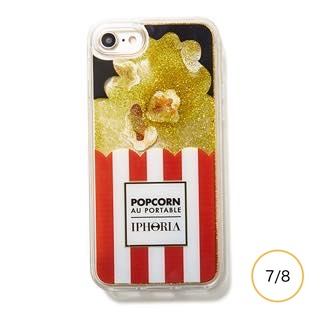 [アイフォリア]Popcorn Red and White stripes for iPhone 8/7