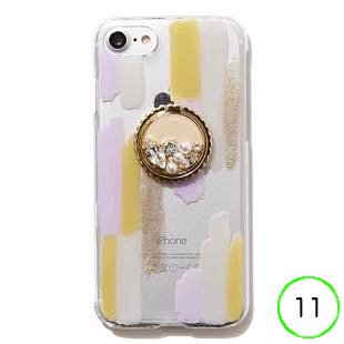 [ジーニーバイエル]Art×Bijou iPhone case(Lavender MIX) for iPhone 11