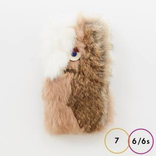 [アコモデ]ACCOMMODE Crazy GUILLAUME Rabbit fur for iPhone 8 / 7 / 6s / 6