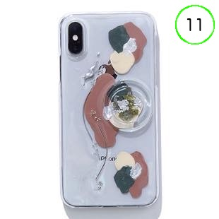 [ファッジ×カルキ]【コラボ】karuki phonecase for iPhone 11(pink/gray)