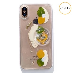 [ファッジ×カルキ]【コラボ】karuki phonecase for iPhone 8/7/SE2(yellow/green)