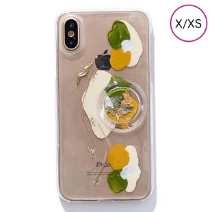 [ファッジ×カルキ]【コラボ】karuki phonecase for iPhone X/XS(yellow/green)