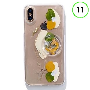 [ファッジ×カルキ]【コラボ】karuki phonecase for iPhone 11(yellow/green)