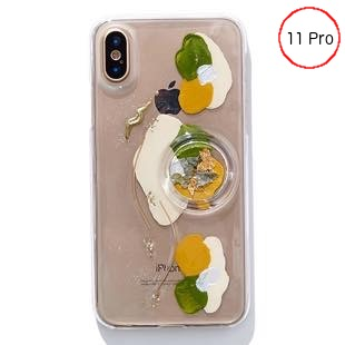 [ファッジ×カルキ]【コラボ】karuki phonecase for iPhone 11pro(yellow/green)