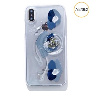 [ファッジ×カルキ]【コラボ】karuki phonecase for iPhone 8/7/SE2(blue/navy)
