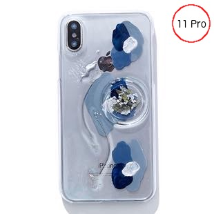 [ファッジ×カルキ]【コラボ】karuki phonecase for iPhone 11pro(blue/navy)