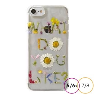 [ラウレア]花ロゴケース・WHAT DO YOU LIKE?  for iPhone 8/7/6s/6