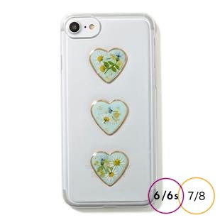 [マユリ]flower×heart iphoneケース for 8/7/6s/6