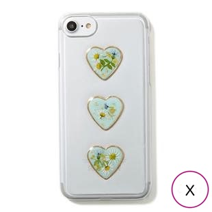 [マユリ]flower×heart iphoneケース for X